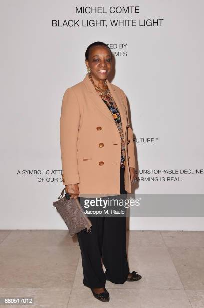 Marva Griffin attends Michel Comte Black Light White Light Opening at Triennale di Milano on November 27 2017 in Milan Italy