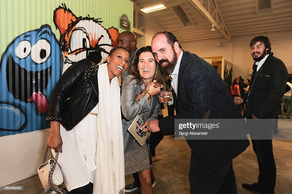 Marva Mccraney, Gabrielle Hatchuel-Becker-Abada and Alvaro Rodriguez attend the Fine Art Auction & Guntram von Habsburg Foundation Cocktail Reception Hosted By Hublot & Rhum Clement at SPACEBY3 on February 14, 2015 in Miami, Florida.