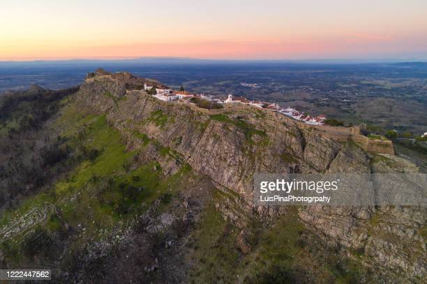 marvao drone aerial view historic village