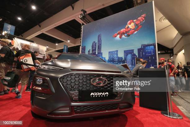 Marvel artist Todd Nauck signs autographs for fans during Hyundai's Complete and Compete Illustration Challenge in celebration of the Kona Iron Man...