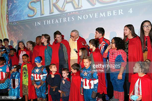 Marvel fans and Disney Channel talent attend a special screening of Marvel Studios' DOCTOR STRANGE in 3D hosted by Stan Lee at the El Capitan Theatre...
