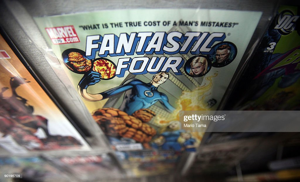 A Marvel Fantastic Four comic book is seen for sale at St. Mark's Comics August 31, 2009 in New York City. The Walt Disney Co. announced that it plans to acquire Marvel Entertainment Inc. for $4 billion in stock and cash, bringing 5,000 Marvel characters including Spider Man and Incredible Hulk under the Disney umbrella.