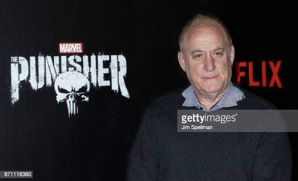 Marvel head of television Jeph Loeb attends the 'Marvel's The Punisher' New York premiere at AMC Loews 34th Street 14 theater on November 6 2017 in...