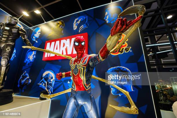 Marvel movie backdrop display with Spiderman replica at the AniCom Games HK Exhibition event in Hong Kong ACGHK is the perfect platform for sales and...