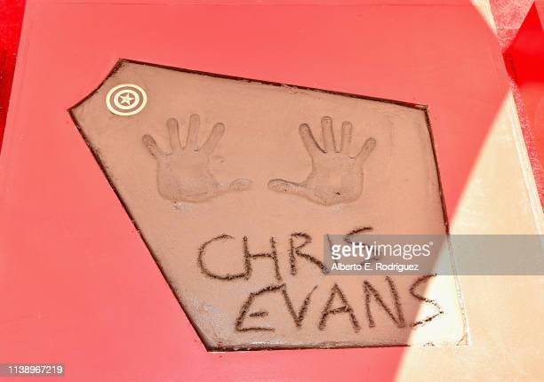 Marvel Studios' 'Avengers Endgame' stars Hand And Footprint Ceremony at the TCL Chinese Theatre on April 23 2019 in Hollywood California
