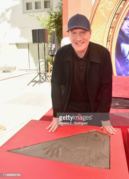 Marvel Studios' Avengers Endgame stars President of Marvel Studios/Producer Kevin Feige at the Hand And Footprint Ceremony at the TCL Chinese Theatre...