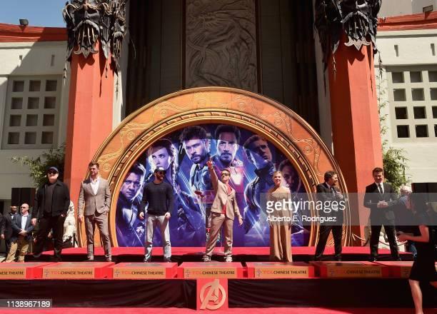 """Marvel Studios' """"Avengers: Endgame"""" stars President of Marvel Studios/Producer Kevin Feige, Chris Hemsworth, Chris Evans, Robert Downey Jr., Scarlett..."""