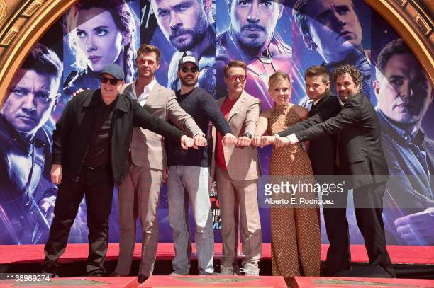 "Marvel Studios' ""Avengers: Endgame"" stars President of Marvel Studios/Producer Kevin Feige, Chris Hemsworth, Chris Evans, Robert Downey Jr., Scarlett..."