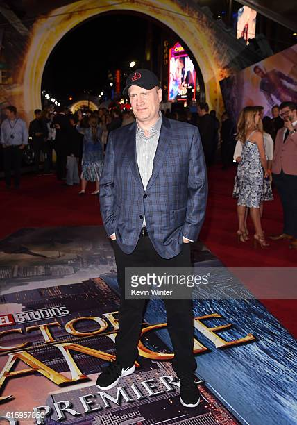 Marvel Studios President Kevin Feige attends the premiere of Disney And Marvel Studios' 'Doctor Strange' on October 20 2016 in Hollywood California