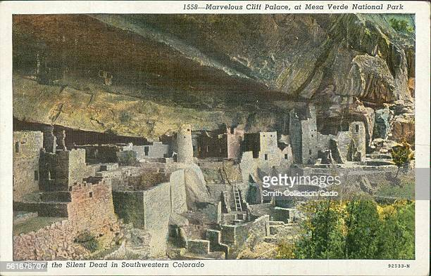 Marvelous Cliff Palace, at Mesa Verde National Park, City of the Silent Dead in Southwestern Colorado, 1924.