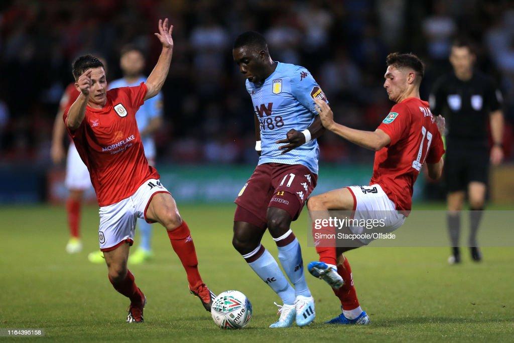 Crewe Alexandra v Aston Villa - Carabao Cup Second Round : News Photo