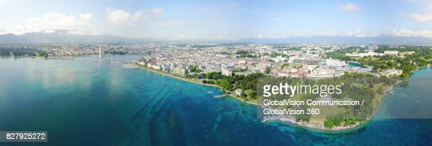 Marvelous Panorama of the City and the Lake of Geneva