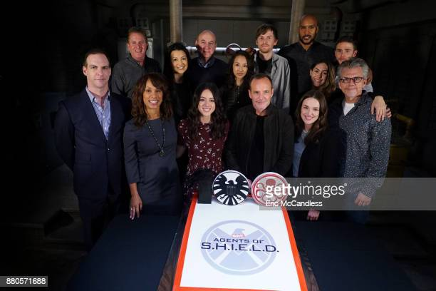 S AGENTS OF SHIELD 'Marvel's Agents of SHIELD' celebrates its milestone 100th episode PATRICK MORAN GARRY A BROWN CHANNING DUNGEY MINGNA WEN CHLOE...