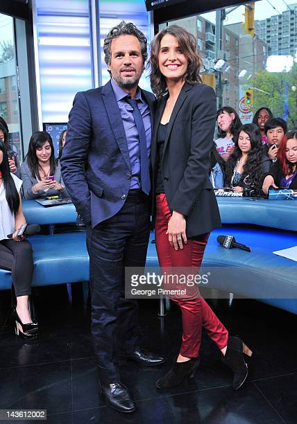 'Marvel's The Avengers' Stars Mark Ruffalo and Cobie Smulders appear on NEWMUSICLIVE at MuchMusic HQ on April 30 2012 in Toronto Canada