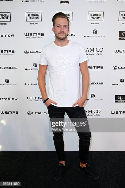 Marvin Albrecht attends the Platform Fashion Selected show during Platform Fashion July 2016 at Areal Boehler on July 24 2016 in Duesseldorf Germany