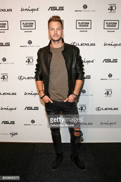 Marvin Albrecht attends the Unique show during Platform Fashion July 2017 at Areal Boehler on July 22 2017 in Duesseldorf Germany