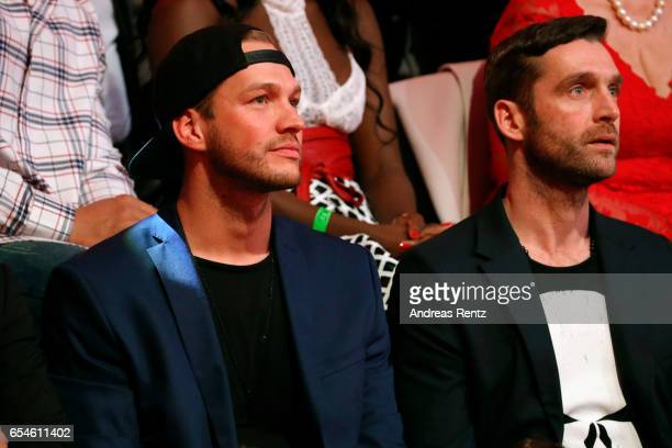 Marvin Albrecht is seen in the audience during the 1st show of the tenth season of the television competition 'Let's Dance' on March 17 2017 in...