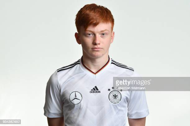 Marvin Alexa poses during the U16 Germany Team Presentation on March 19 2018 in Ulm Germany