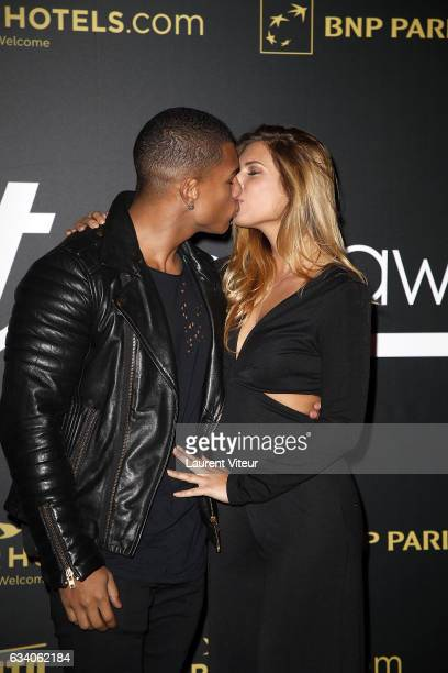 Marvin and Maeva from Secret Story 10 attend the '4th Melty Future Awards' at Le Grand Rex on February 6 2017 in Paris France