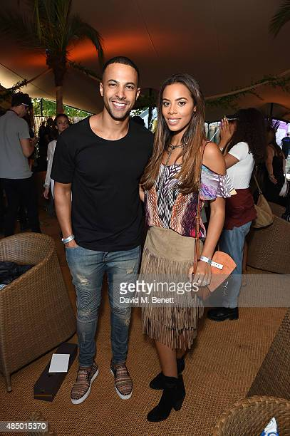 Marvin and Rochelle Humes attend day 2 of CIROC MAHIKI backstage at V Festival at at Hylands Park on August 23 2015 in Chelmsford England