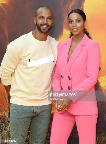 Marvin and Rochelle Humes attend the European Premiere of Disney's The Lion King at the Odeon Luxe cinema Leicester Square in London