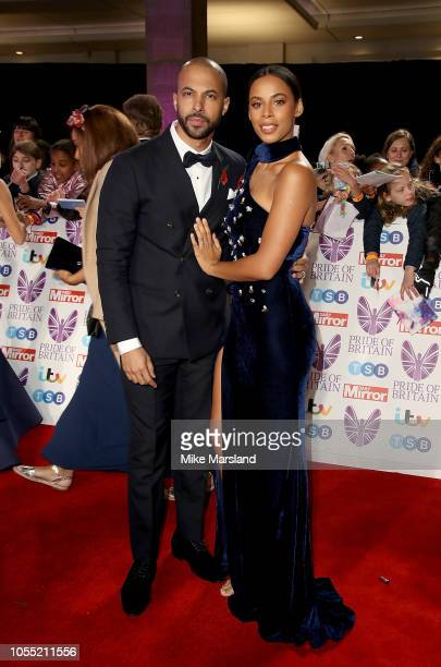 Marvin and Rochelle Humes attend the Pride of Britain Awards 2018 at The Grosvenor House Hotel on October 29 2018 in London England