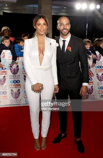 Marvin and Rochelle Humes attend the Pride Of Britain Awards at Grosvenor House on October 30 2017 in London England