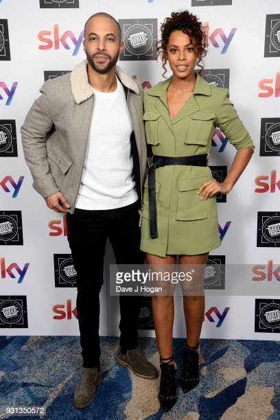 Marvin and Rochelle Humes attend the TRIC Awards 2018 held at The Grosvenor House Hotel on March 13 2018 in London England