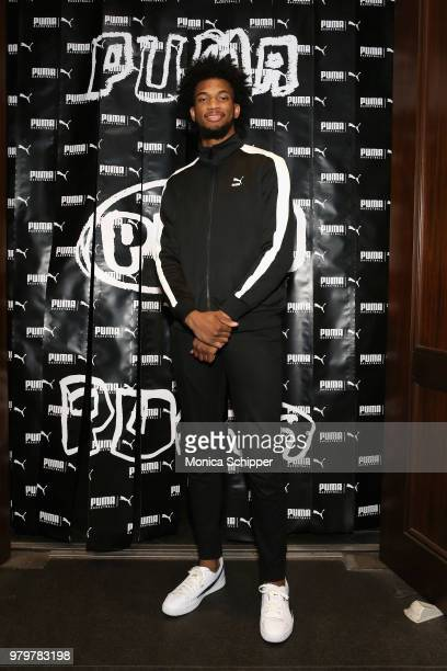 Marvin Bagley III attends the PUMA Basketball launch party at 40/40 Club on June 20 2018 in New York City