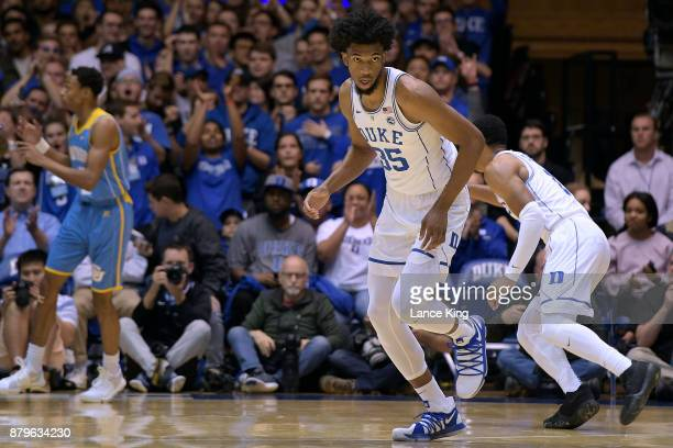 Marvin Bagley III of the Duke Blue Devils in action against the Southern Jaguars at Cameron Indoor Stadium on November 17 2017 in Durham North...