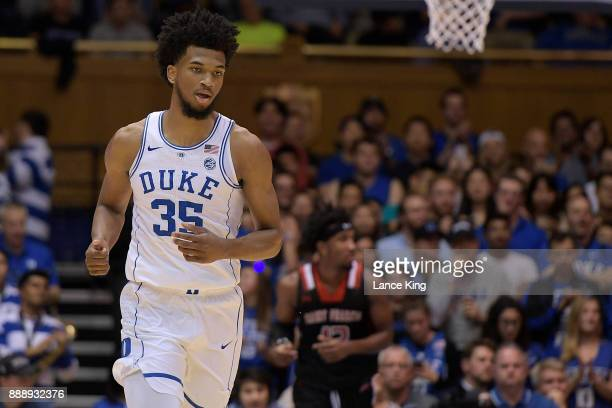 Marvin Bagley III of the Duke Blue Devils in action against the St Francis Red Flash at Cameron Indoor Stadium on December 5 2017 in Durham North...