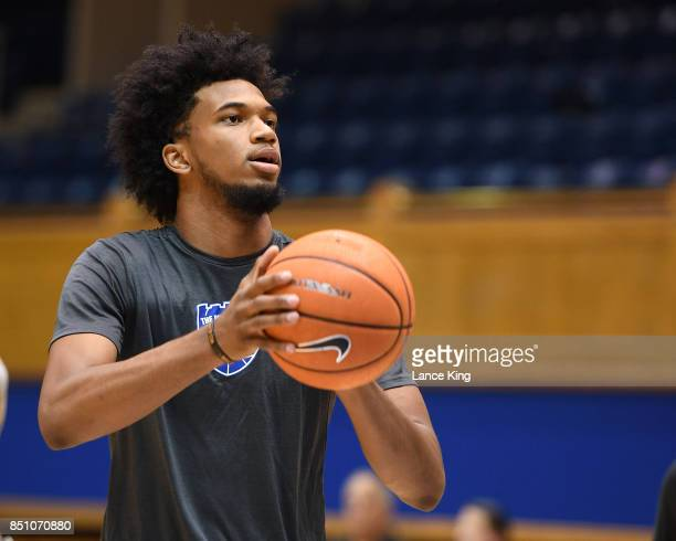 Marvin Bagley III of the Duke Blue Devils in action during the Duke Basketball Hurricane Harvey Benefit at Cameron Indoor Stadium on September 9 2017...