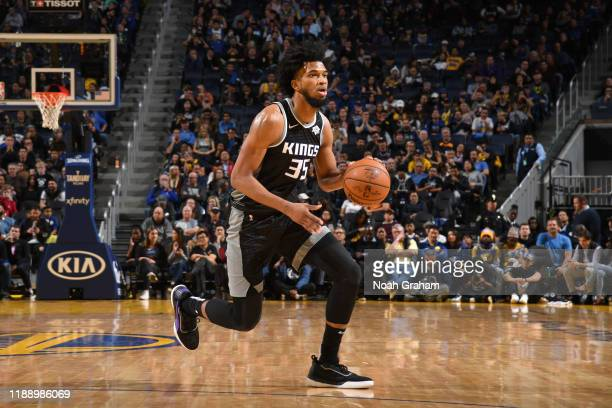 Marvin Bagley III of the Sacramento Kings handles the ball against the Golden State Warriors on December 15, 2019 at Chase Center in San Francisco,...