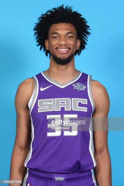 Marvin Bagley III of the Sacramento Kings poses for a head shot at media day on September 24 2018 at the Golden 1 Center in Sacramento California...