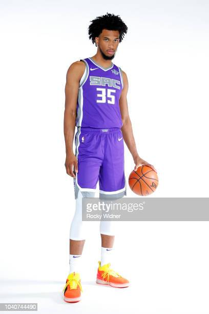 Marvin Bagley III of the Sacramento Kings poses for a portrait at media day on September 24 2018 at the Golden 1 Center in Sacramento California NOTE...