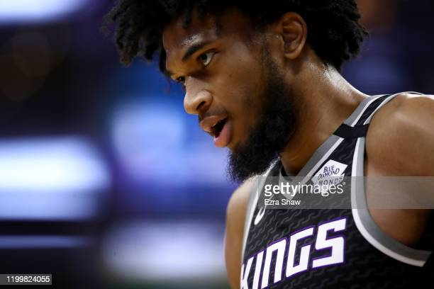 Marvin Bagley III of the Sacramento Kings stands on the court during their game against the Dallas Mavericks at Golden 1 Center on January 15, 2020...
