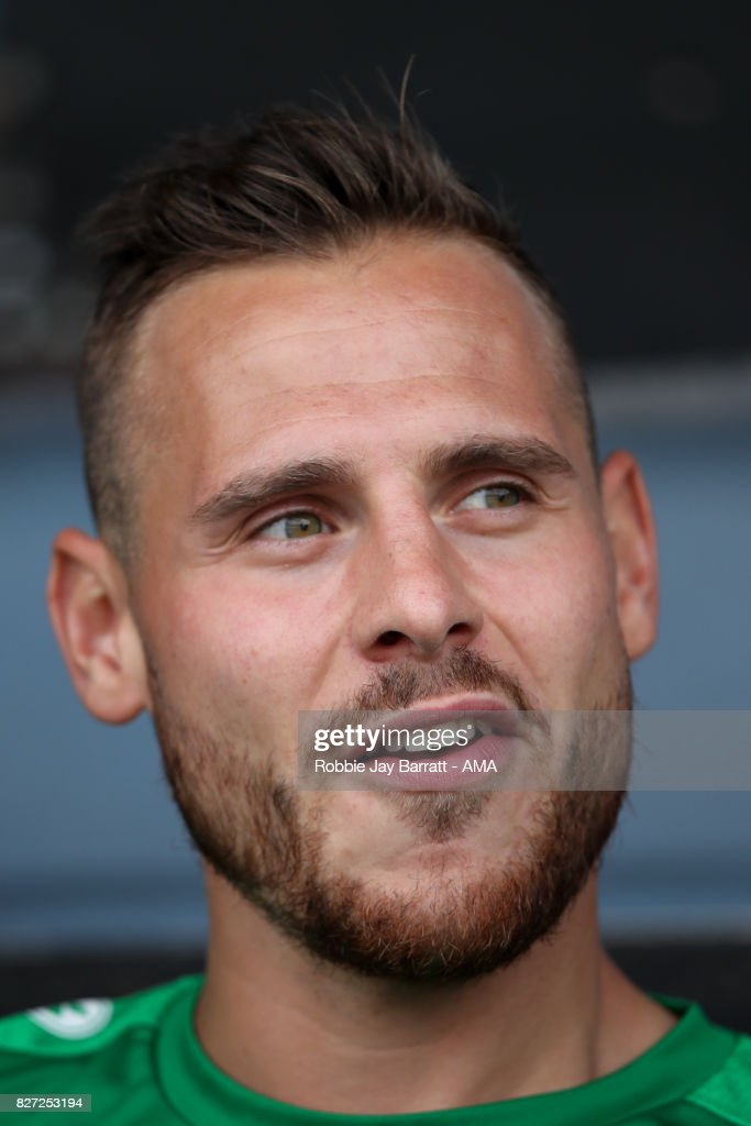 Marvin Bakalorz of Hannover 96 during the Pre-Season Friendly between Burnley and Hannover 96 at Turf Moor on August 5, 2017 in Burnley, England.
