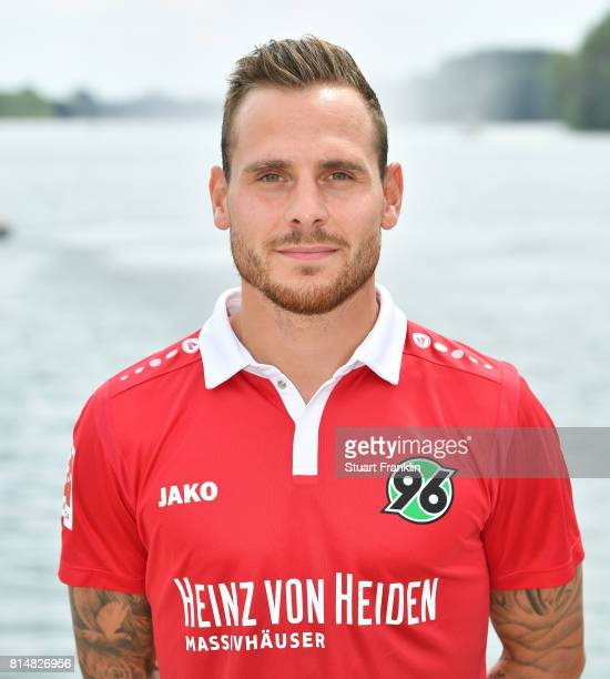 Marvin Bakalorz of Hannover 96 poses during the team presentation at on July 14 2017 in Hanover Germany