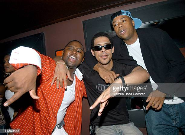 Marvin Bastien Rashad Haughton and Josue Sejour during DJ Cassidy's Birthday Party at Hue in New York City New York United States