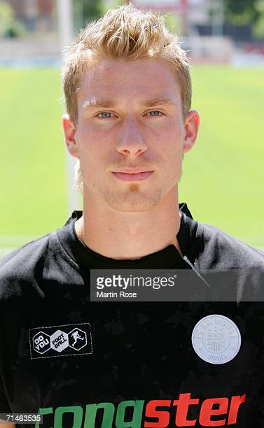 Marvin Braun of St.Pauli poses during the Bundesliga 3rd Division Team Presentation of FC St.Pauli at the Millerntor Stadium on July 17, 2006 in...