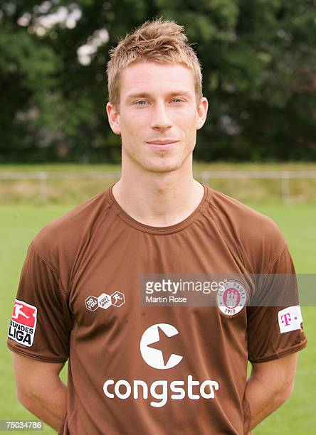 Marvin Braun posess during the FC St. Pauli Team Presentation at Kollaustrasse training ground on July 4, 2007 in Hamburg, Germany.