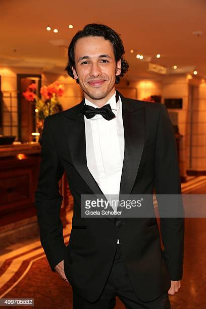 Marvin Eckerle son of Bernd Herzsprung during the Audi Generation Award 2015 at Hotel Bayerischer Hof on December 2 2015 in Munich Germany
