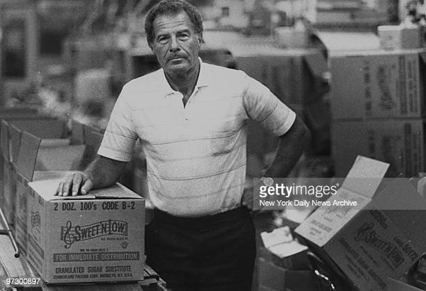 Marvin Eisenstadt president of Cumberland Packing Corporation manufacturers of the artifical sweetner Sweet'N Low at the main factory on Cumberland...