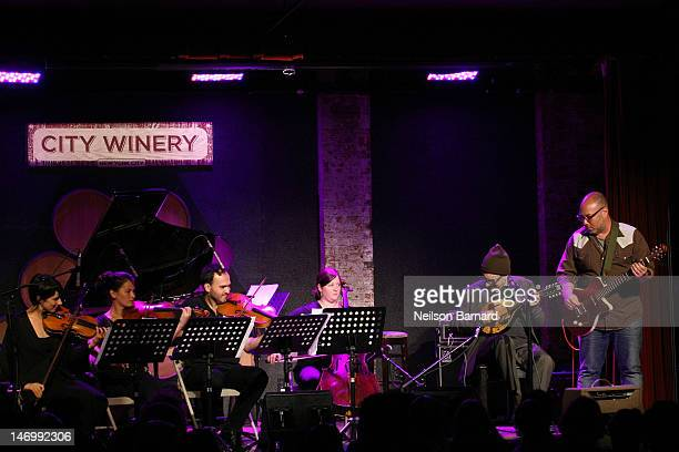 Marvin Etzioni performs on stage at City Winery on June 24 2012 in New York City
