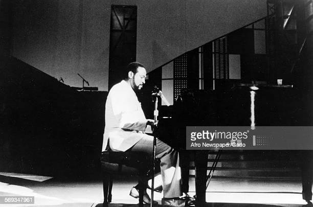 Marvin Gaye at the piano, 1970.