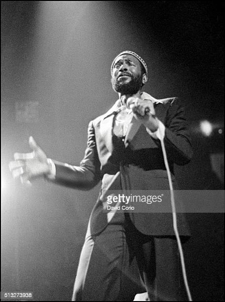 Marvin Gaye performing at the Royal Albert Hall London UK 25 January 1980