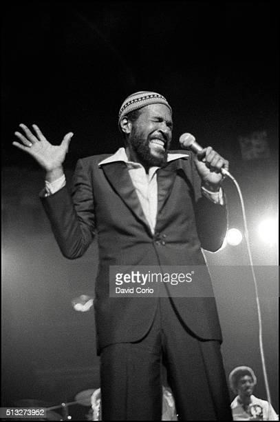 Marvin Gaye performing at the Royal Albert Hall, London, UK 25 January 1980.