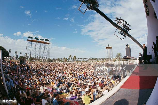 Marvin Gaye performs before a massive audience at the 1968 Miami Pop Festival held at Gulfstream Park in Hallandale Florida