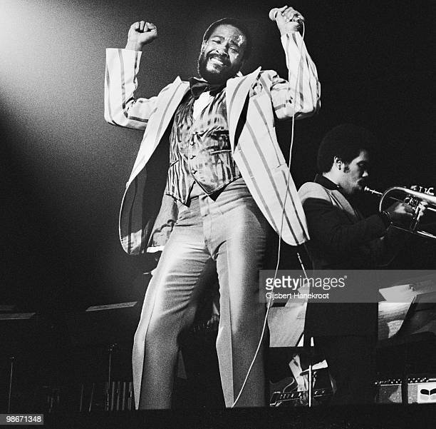 Marvin Gaye performs live on stage at Jaap Edenhal in Amsterdam Netherlands in 1978