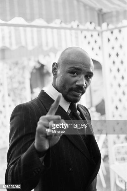 Marvin Hagler in London to challenge WBC WBA champion Alan Minter Hagler won by TKO in the third round Hagler went six years undefeated before losing...